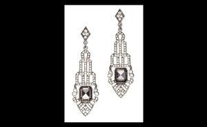 ISO Loft Art Deco pave earrings